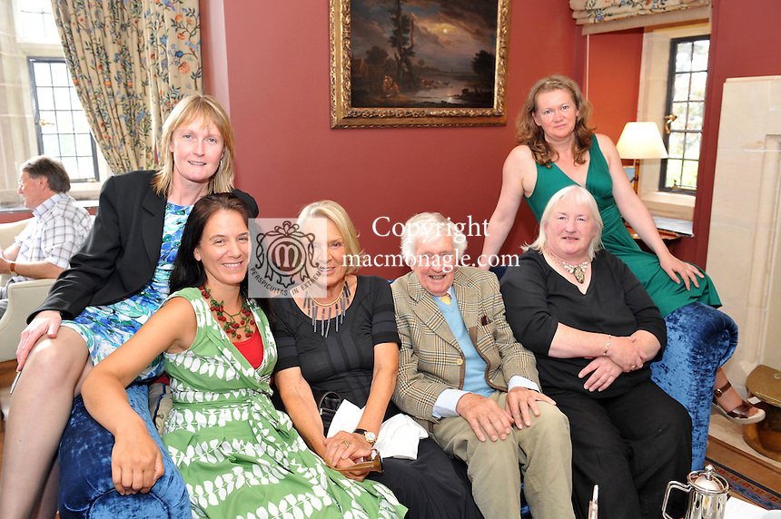 Pictured at the Ard na Sidhe Manor House afternoon tea and culture with Artist Pauline Bewick  overlooking Caragh Lake were, from left, Helena Golden, Holly Melia, Pauline Bewick, Pat Melia, Kate Landers and Anne Kearns..Picture by Don MacMonagle..PR photo: Ard na SIdhe:.Further info: Joanne Byrne / Presence PR 353 1 676 1062