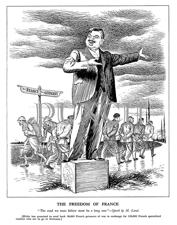 Pierre Laval Cartoon