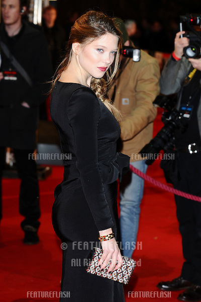 "Lea Seydoux arriving for the premiere of ""Mission Impossible Ghost Protocol"" at the IMAX cinema, South Bank, London. 13/12/2011 Picture by: Steve Vas / Featureflash"