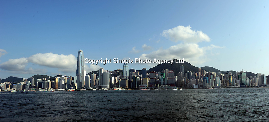 A view of Hong Kong harbour taken from West Kowloon. Hong Kong has some of the world's tallest skyscrapers and some of the most expensive property..