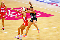 10.02.2017 Silver Ferns Gina Crampton in action during the Silver Ferns v England Roses Vitality Netball International Series test match played at the Echo Arena in Liverpool. Mandatory Photo Credit © Paul Greenwood/Michael Bradley Photography.