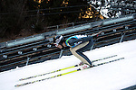 An athlet competes during the training of the Nordic Combined NH as part of the Trentino 2013 Winter Universiade Italy on 12/12/2013 in Predazzo, Italy.<br /> <br /> &copy; Pierre Teyssot - www.pierreteyssot.com