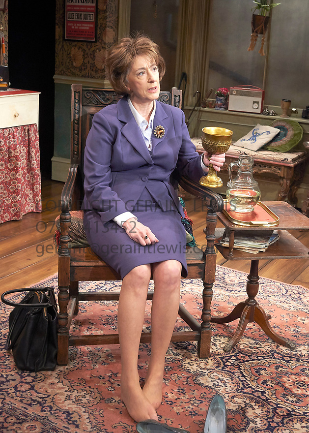 Lettice and Lovage by Peter Shaffer, directed by Trevor Nunn. With Maureen Lipman as Lotte Schoen.  Opens at The Mernier Chocolate Factory Theatre on 17/5/17.