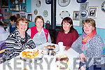 Margaret murphy, Mary O'Dowd, Margaret O'Sullivan and pauline Cronin enjoying the Coffee morning in the aid of the Irish Cancer Society in the Old Creamery restaurant Listry on Friday