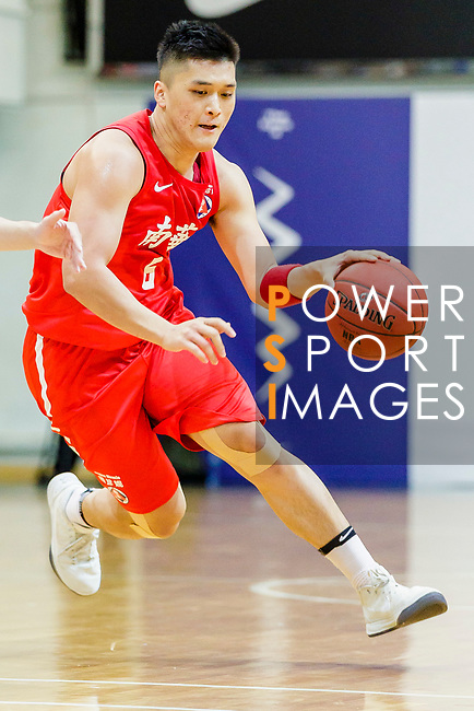 Leung Shiu Wah #6 of SCAA Men's Basketball Team handles the ball against Eastern Long Lions during the Hong Kong Basketball League game between Eastern Long Lions and SCAA at Southorn Stadium on May 29, 2018 in Hong Kong. Photo by Yu Chun Christopher Wong / Power Sport Images