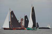 SKUTSJESILEN: LEMMER: Baai van Lemmer, 29-05-2014, Lemmer Ahoy, Opsjitter - Langweer (schipper Willem Zwaga), ©foto Martin de Jong