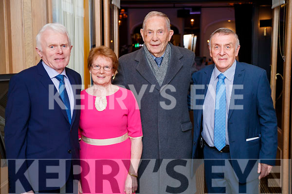 Jimmy Shanahan, Mai Shanahan, Kevin Lynch and Donal O'Leary, pictured at the Kerry Supporters Social at Ballygarry House Hotel and Spa, Tralee, on Saturday night last.