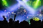 © Joel Goodman - 07973 332324 . 11/04/2015 . Manchester , UK . Kermit hugs Shaun Ryder . Black Grape perform a reunion gig in support of Bez's Reality Party at the Old Granada Studios Warehouse . Photo credit : Joel Goodman