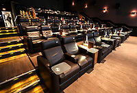 March 12, 2019. Encinitas, CA. USA| The big lazy boy like seats at the Cinepolis Theater located in Del Mar| Photos by Jamie Scott Lytle. Copyright.