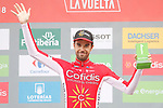 Jesus Herrada (ESP) Cofidis wins the days combativity award at the end of Stage 20 of the La Vuelta 2018, running 97.3km from Andorra Escaldes-Engordany to Coll de la Gallina, Spain. 15th September 2018.                   <br /> Picture: Unipublic/Photogomezsport | Cyclefile<br /> <br /> <br /> All photos usage must carry mandatory copyright credit (© Cyclefile | Unipublic/Photogomezsport)