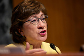 United States Senator Susan Collins (Republican of Maine) speaks during the U.S. Senate Committee on Appropriations regarding FAA oversight on Capitol Hill in Washington D.C., U.S. on July 31, 2019.<br /> <br /> Credit: Stefani Reynolds / CNP