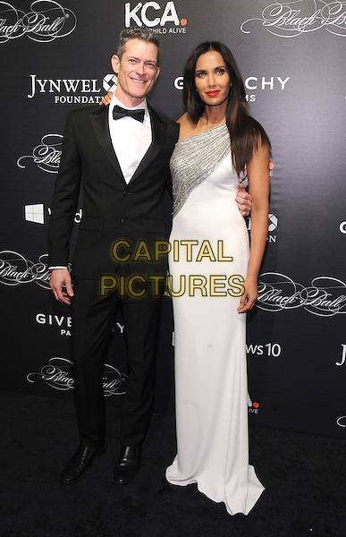 NEW YORK, NY - NOVEMBER 05:  Peter Twyman and Padma Lakshmi attends the 2015 'Keep A Child Alive' Black Ball at Hammerstein Ballroom on November 5, 2015 in New York City.<br /> CAP/MPI/STV<br /> &copy;STV/MPI/Capital Pictures