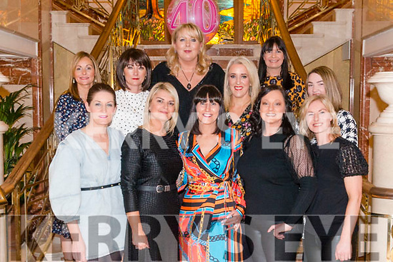 Patricia McCarthy from Killarney celebrated her 40th birthday in the Plaza Hotel, Killarney last Saturday night. Pictured with front l-r Louise Devaney, RachelGuerin, Fiona McMahon and Noreen Buckley, back l-r Tara O'Leary, Marie Carroll O'Sullivan, Eimear Mac Shortall, Aoife Twomey and Ina O'Callaghan.