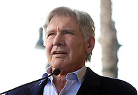 HOLLYWOOD, CA - MARCH 8: Harrison Ford, at Mark Hamill Honored With Star On The Hollywood Walk Of Fame At Hollywood Blvd in Hollywood, California on March 8, 2018. <br /> CAP/MPI/FS<br /> &copy;FS/MPI/Capital Pictures