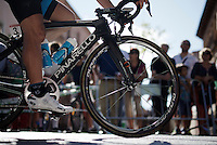 Sergio Henao (COL/SKY) to the start<br /> <br /> stage 21: Alcala de Henares - Madrid (98km)<br /> 2015 Vuelta à Espana