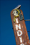 Indian Room bar sign in San Pedro