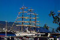 Three masted schooner, Santa Cruz,Tenerife, Canary Islands, Spain