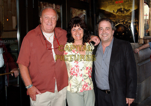 "CLAYTON HILL, SHARON CECETTI & JOE SHELBY.At the ""George A. Romero's Land Of The Dead"" Special Pittsburgh Premiere Screening held at the Byham Theatre, Pittsburgh, PA, USA, June 22, 2005..half length.Ref: ADM.www.capitalpictures.com.sales@capitalpictures.com.©Jason Nelson/AdMedia/Capital Pictures."