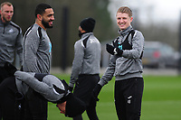 George Byers of Swansea City in action during the Swansea City Training at The Fairwood Training Ground in Swansea, Wales, UK. Wednesday 20February 2019