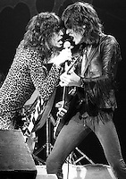 Aerosmith in Concert on October 1976 in the UK. Credit: Ian Dickson/MediaPunch