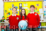 The World is your Oyster, pictured at the retirement party of the principal of Derryquay National school last Wednesday, June 26 last, were 3 pupils who who are graduating from the school and moving to secondary school after the summer, were L-R Diarmuid Waugh, Saóirse Mehigan and Thomas Sheehy.