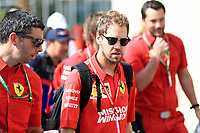 1st December 2019; Yas Marina Circuit, Abu Dhabi, United Arab Emirates; Formula 1 Abu Dhabi Grand Prix, race day; Scuderia Ferrari, Sebastian Vettel - Editorial Use