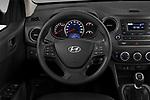 Car pictures of steering wheel view of a 2019 Hyundai i10 Twist 5 Door Hatchback Steering Wheel