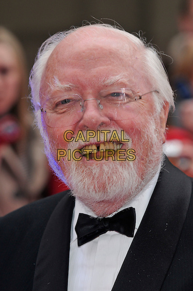 LORD RICHARD ATTENBOROUGH.The Galaxy British Book Awards held at the Grosvenor Hotel, Park Lane, London, England. .April 9th 2008 .headshot portrait bow tie gap teeth beard facial hair glasses.CAP/PL.©Phil Loftus/Capital Pictures.