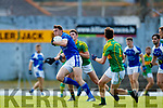 Graham O'Sullivan South Kerry in action against David Moran  Kerins O'Rahillys in the Kerry Senior Football Championship Semi Final at Fitzgerald Stadium on Saturday.