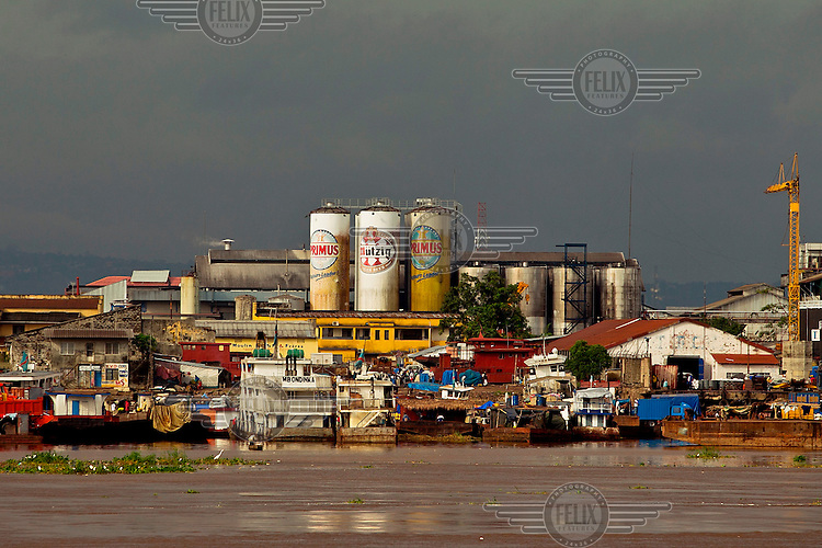 The Bralima brewery beside the Congo River. The company,  founded in 1923, is now owned by Heineken International.
