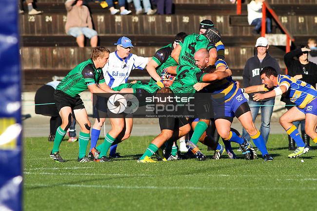 Marist v Wanderers, Car Company Nelson Bays Division 1 Rugby, 31 May 2014, Trafalgar Park, Nelson, New Zealand<br /> Photo: Marc Palmano/shuttersport.co.nz