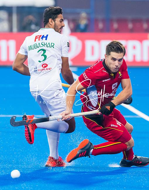 BHUBANESWAR (INDIA) - Cedric Charlier (Belgie)    tijdens Belgie-Pakistan bij het WK Hockey heren.   COPYRIGHT KOEN SUYK