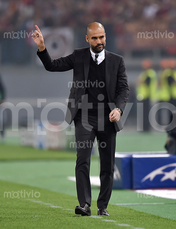 FUSSBALL   CHAMPIONS LEAGUE   SAISON 2014/2015   Vorrunde AS Rom - FC Bayern Muenchen        21.10.2014 Trainer Pep Guardiola (FC Bayern Muenchen)
