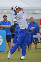 Hideki Matsuyama (JPN) watches his tee shot on 2 during round 4 of the AT&T Byron Nelson, Trinity Forest Golf Club, at Dallas, Texas, USA. 5/20/2018.<br /> Picture: Golffile | Ken Murray<br /> <br /> All photo usage must carry mandatory copyright credit (© Golffile | Ken Murray)