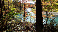 NWA Democrat-Gazette/FLIP PUTTHOFF <br />Water shimmers in morning sunshine Oct. 29 2018 on the Mulberry River near Oark along the Mulberry River Road Scenic Byway.