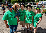 June 8, 2019 : Fans pose for a photo on Belmont Stakes Festival Saturday at Belmont Park in Elmont, New York. Scott Serio/Eclipse Sportswire/CSM