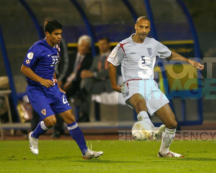 England's Rio Ferdinand and Croatia's Eduardo De Silva..Euro 2008 Qualifier..Croatia v England..11th October, 2006..--------------------..Sportimage +44 7980659747..admin@sportimage.co.uk..http://www.sportimage.co.uk/