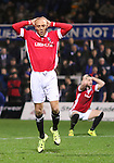 Richie Allen of Salford City after missing the target - Emirates FA Cup Second Round Replay - Hartlepool vs Salford City - Victoria Park - Hartlepool - England - 15th of December 2015 - Picture Jamie Tyerman/Sportimage