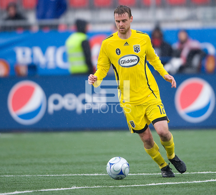 02 May 2009: Columbus Crew midfielder/forward Eddie Gaven #12 in action at BMO Field in a game between the Columbus Crew and Toronto FC. .The game ended in a 1-1 draw..