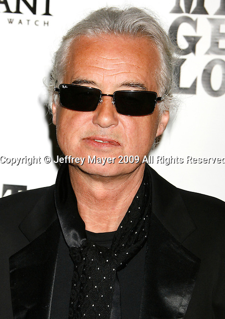 "WESTWOOD, CA. - June 19: Musician Jimmy Page  attends the 2009 Los Angeles Film Festival's ""It Might Get Loud"" after party at Hotel Palomar on June 19, 2009 in Los Angeles, California."