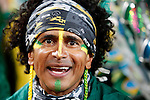 15 JUN 2010: A fan in the stands, pregame. The Brazil National Team played the North Korea National Team at Ellis Park Stadium in Johannesburg, South Africa in a 2010 FIFA World Cup Group G match.