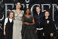 Angelina Jolie and her children<br /> 'Maleficent: Mistress of Evil'  UK film premiere at the BFI Imax Waterloo, London England on October 09, 2019.<br /> CAP/Phil Loftus<br /> ©Phil Loftus/Capital Pictures /MediaPunch ***FOR USA ONLY***
