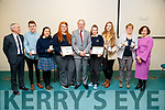 Ciarán Clifford, Abbie Daly, Mikayla Corcoran, Leah Brennan and Sarah Jane O'Shea, students from Coláiste na Sceilge, Cahersiveen, attending the Kerry Education and Training Board student awards night, at the Institute of Technology, Tralee on Friday night last.