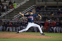 University of Arizona Wildcats starting pitcher Cody Deason (15) delivers a pitch to the plate during a game against the North Dakota State University Bison at Hi Corbett Field on March 9, 2018 in Tucson, Arizona. (Zachary Lucy/Four Seam Images)