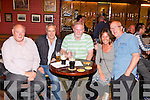 MITCHELS LEGENDS: Some of the John Mitchels legends having a great time at their race night at the clubhouse, Boherbue, Tralee on Saturday l-r: Tony Kelliher, Timmy O'Dowd, Seanie Burrows, Mary Kelliher amnd John Higgins.