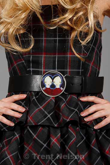 Teresa Flowers designs clothing, Thursday, October 22 2009 in Salt Lake City.