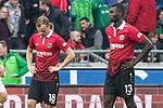 10.03.2018, HDI Arena, Hannover, GER, 1.FBL, Hannover 96 vs FC Augsburg<br /> <br /> im Bild<br /> Iver Fossum (Hannover 96 #18), Ihlas Bebou (Hannover 96 #13) entt&auml;uscht / enttaeuscht, niedergeschlagen nach Spielende, <br /> <br /> Foto &copy; nordphoto / Ewert