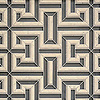Theseus, a handmade mosaic shown in honed Warm Grey Serenity glass, honed Bianco Antico and honed Palomar, is part of the Parterre Collection by Paul Schatz for New Ravenna.