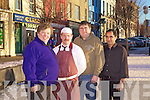 Traders from Listowel who are currently unhappy with the current town rates that exist for business in the town, pictured l-r: Dominic Walsh(Moloney Newsagent), Brendan Mahony(Mahony Butchers), Bagga(Punjab Spice Restaurant) and Christy Walsh(Christy's Bar).