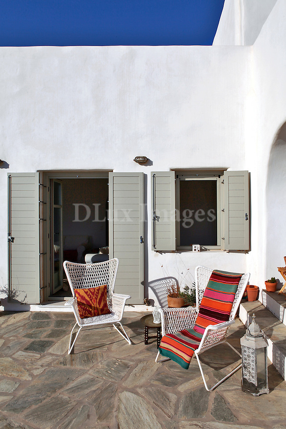 traditional cycladic terrace